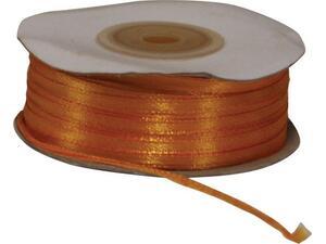Κορδέλα Σατέν διπλής όψης με ούγια 3mmx100m πορτοκαλί