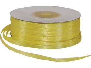 Κορδέλα Σατέν διπλής όψης με ούγια 3mmx100m κίτρινη