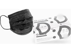 Μάσκα προστασίας μίας χρήσεως μαύρη τύπου II 10 τεμαχίων