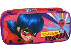 Κασετίνα οβάλ GIM Ladybug Girl Power (346-05141)
