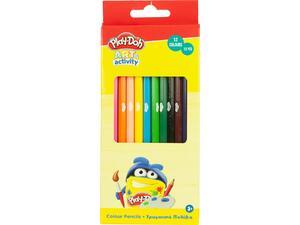 Ξυλομπογιές Play Doh Εξάγωνες 12 Χρώματα (320-20003)