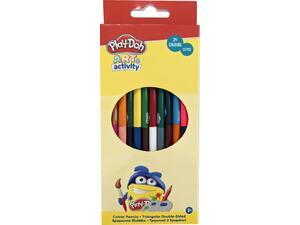 Ξυλομπογιές Play Doh Διπλή Μύτη Τριγωνικές 12 τεμάχια - 24 χρώματα (320-20004)