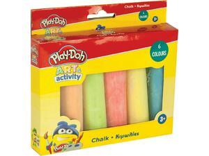 Κιμωλίες PLAY-DOH διάφορα χρώματα Jumbo Size 6 τεμάχια (320-40003)