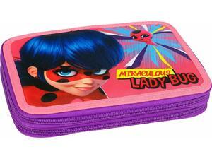 Κασετίνα γεμάτη διπλή Gim Ladybug Girl Power (346-05100)