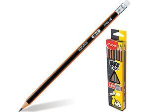 Μολύβι γραφίτη Maped Black Peps HB με γομα (851759)