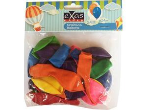 Μπαλόνια EXAS 24cm σε διάφορα χρώματα (συσκευασία 24 τεμαχίων)