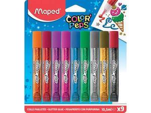 Κόλλες υγρές glitter glue Maped 10.5mlx9 χρώματα