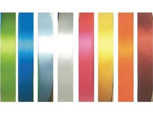 Κορδέλα υφασμάτινη σατέν διπλής όψης με ούγια 12mmX100m σε διάφορα χρώματα