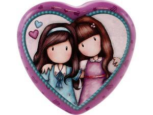 Κουτί μεταλλικό σχήμα καρδιάς SANTORO Friends Walk Together 578GJD02