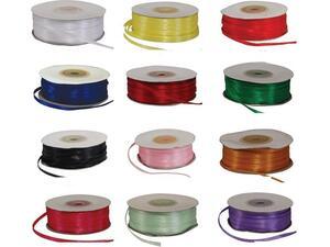 Κορδέλα υφασμάτινη σατέν διπλής όψης με ούγια 3mmX100m σε διάφορα χρώματα