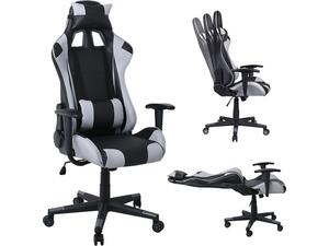 Πολυθρόνα Γραφείου Gaming BF8000, Pvc Μαύρο - Γκρι [Ε-00023339] ΕΟ576,1 (Γκρι)