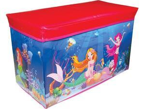 """Σκαμπό-κουτί αποθήκευσης υφασμάτινο """"mermaid"""" Υ35x60x30εκ. (Διάφορα χρώματα)"""