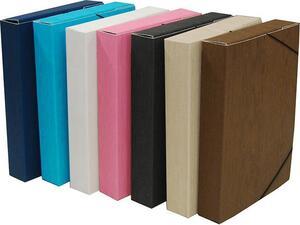 Κουτί αρχειοθέτησης Next Fabric με λάστιχο 35x25.3x8cm σε διάφορα χρώματα