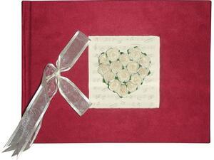 """Άλμπουμ φωτογραφιών γάμου κόκκινο """"καρδιά'' 31x23cm 20 φύλλων"""