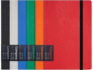Σημειωματάριο Comix με λάστιχο ριγέ 15x10.7cm Α6 80 φύλλων σε διάφορα χρώματα