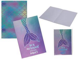 """Σημειωματάριο """"Mermaid Tail"""" Α5 30 φύλλων σε διάφορα σχέδια"""