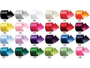 Κορδέλες υφασμάτινη σατέν με ούγια 2.5cm x 22m σε διάφορα χρώματα