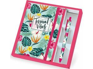 Σημειωματάριο Total gift Tropical A5 με λάστιχο και στυλό XL1832