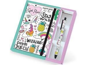 Σημειωματάριο Total gift Tropical A5 με λάστιχο και στυλό XL1841