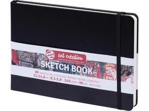 Μπλοκ Sketch Book Talens 21x15cm 80 φύλλων μαύρο (38900)