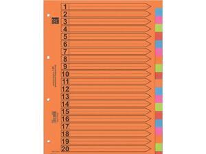 Διαχωριστικά χάρτινα NEXT χρωματιστά 20 θέσεων (04914)